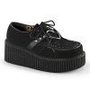 CREEPER-206 Black Vegan Suede - Vegan Leather